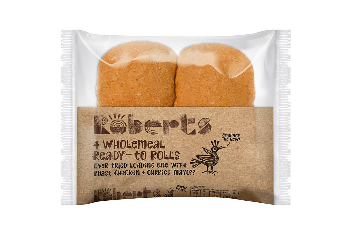 WHOLEMEAL ROLLS 4 PACK